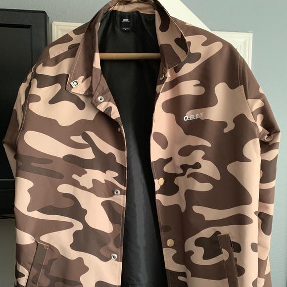 3b2c2e7a0 Men's Obey Desert Camo Jacket
